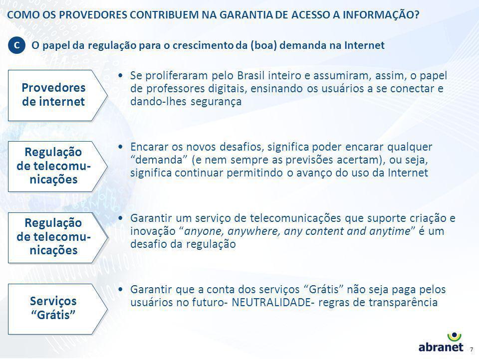 6 COMO OS PROVEDORES CONTRIBUEM NA GARANTIA DE ACESSO A INFORMAÇÃO.
