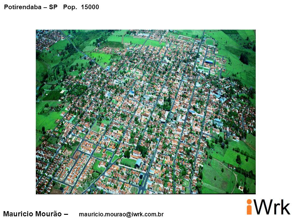 Potirendaba – SP Pop. 15000 Mauricio Mourão – mauricio.mourao@iwrk.com.br