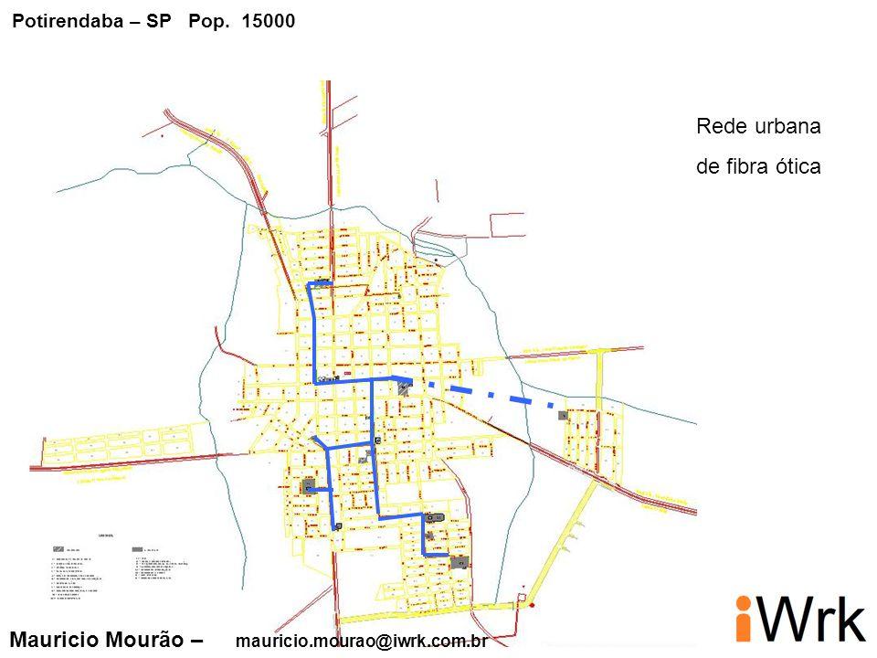 Rede urbana de fibra ótica Mauricio Mourão – mauricio.mourao@iwrk.com.br Potirendaba – SP Pop. 15000