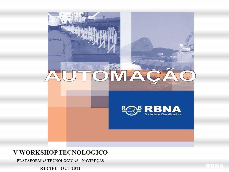 LDM 16.02.06 Regras RBNA / Automação Navios com motores compactos de potencia individual abaixo de 2500 kWh e AB < 500 Parte II Titulo 52 Capítulo B Desenvolvido conforme requisitos IACS e IMO, mas revendo as tabelas de pontos de automação e sistemas essenciais em pesquisa junto aos fabricantes de motores compactos e equipamentos RBNA