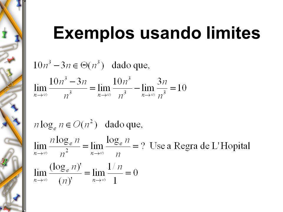 Exemplos usando limites