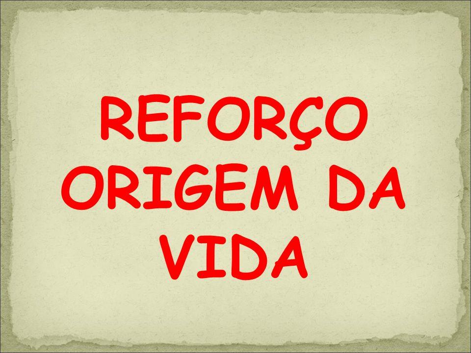 REFORÇO ORIGEM DA VIDA