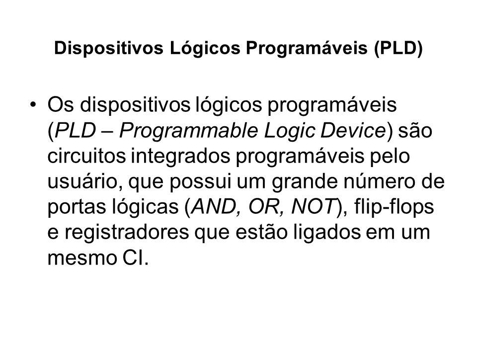 Os dispositivos lógicos programáveis (PLD – Programmable Logic Device) são circuitos integrados programáveis pelo usuário, que possui um grande número