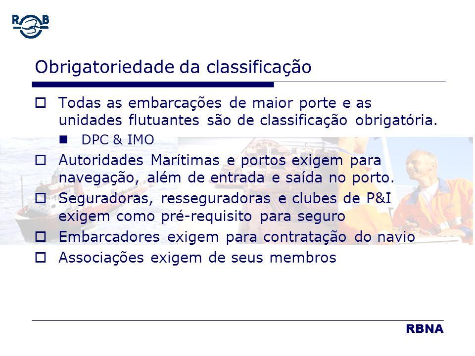 RBNA LDM 16.02.06 Obrigatoriedade da classificação Todas as embarcações de maior porte e as unidades flutuantes são de classificação obrigatória. DPC