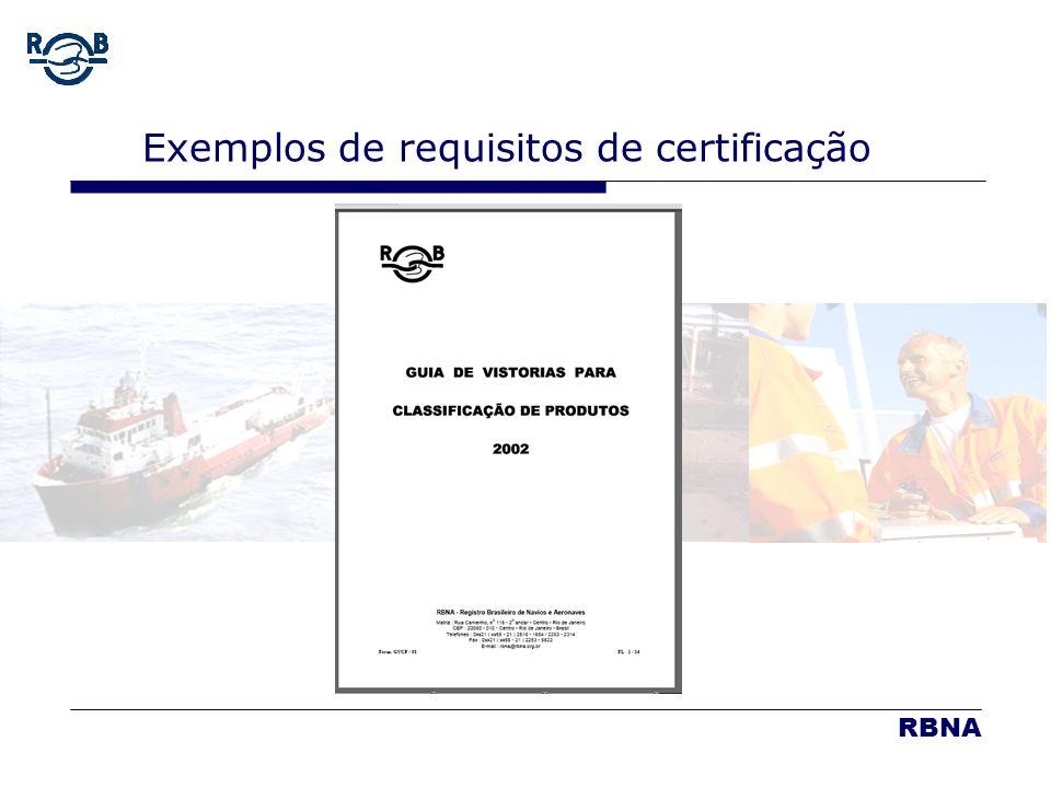 LDM 16.02.06 Exemplos de requisitos de certificação RBNA