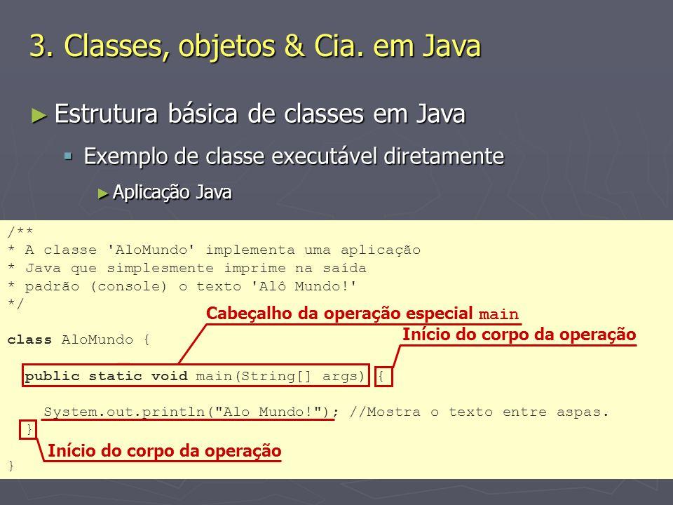 (C) 2008 Gustavo Motta14 Estrutura básica de classes em Java Estrutura básica de classes em Java Exemplo de classe executável diretamente Exemplo de c