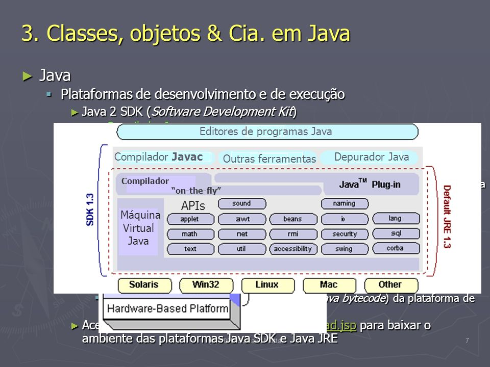 (C) 2008 Gustavo Motta7 3. Classes, objetos & Cia. em Java Java Java Plataformas de desenvolvimento e de execução Plataformas de desenvolvimento e de