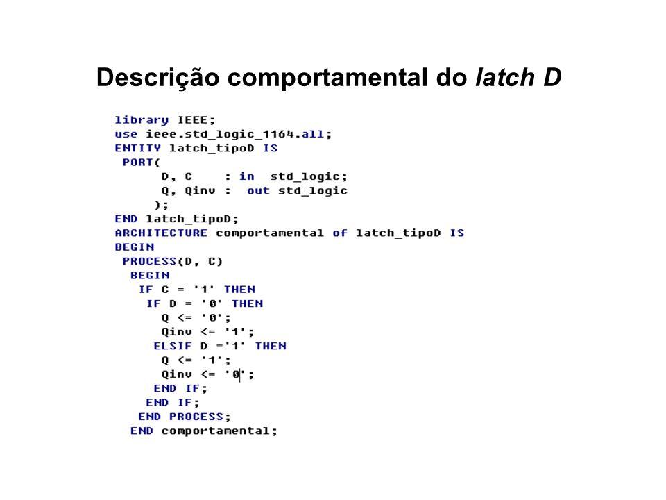 Descrição comportamental do latch D