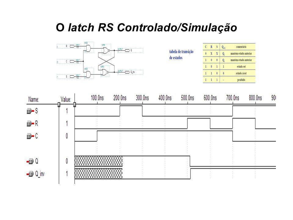 O latch RS Controlado/Simulação