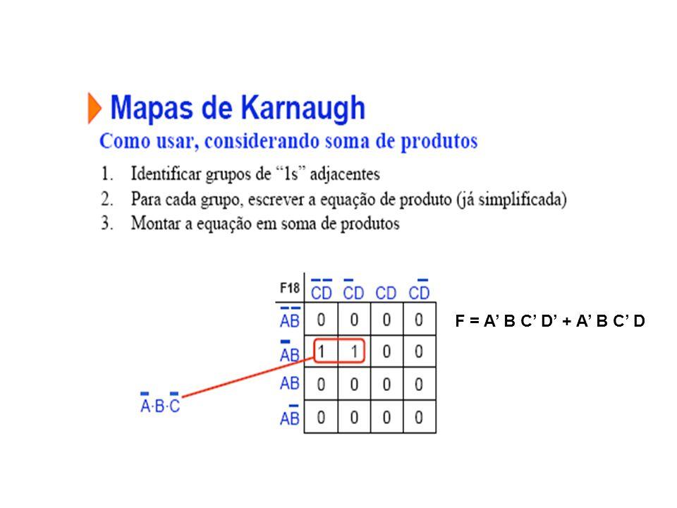 F = A B C D + A B C D