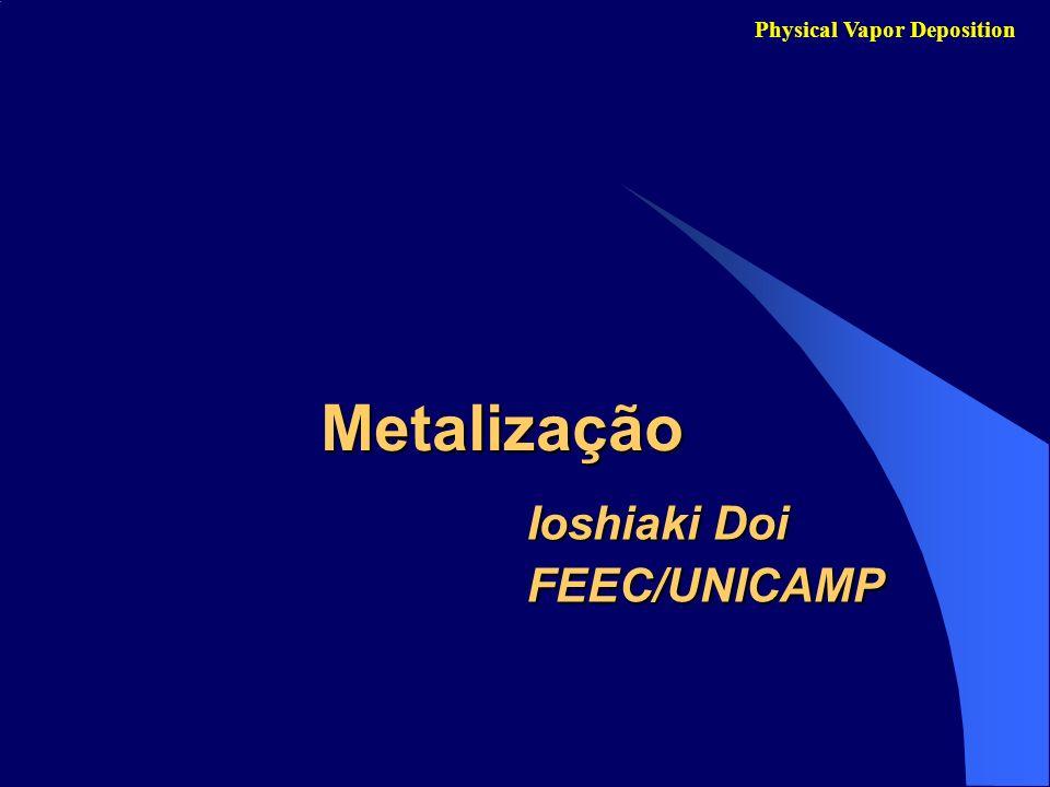Metal mais empregado:Metal mais empregado: Physical Vapor Deposition Alumínio para CIs de Silício - Baixa resitividade (Al – 2.65 -cm, Ag – 1.6 -cm, Cu – 1.7 -cm e Au- 2.2 -cm).