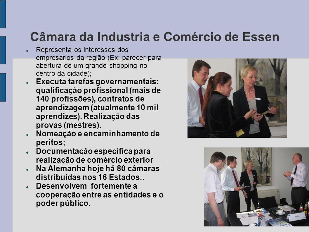 Câmara da Industria e Comércio de Essen Representa os interesses dos empresários da região (Ex: parecer para abertura de um grande shopping no centro