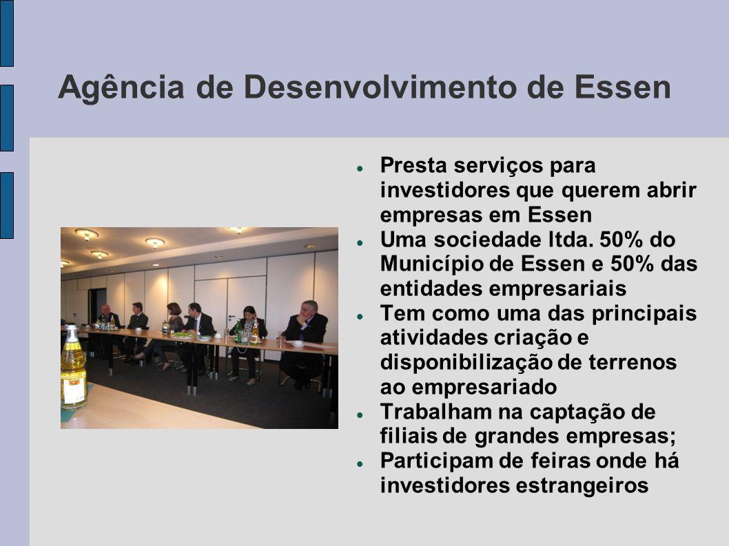 Agência de Desenvolvimento de Essen Presta serviços para investidores que querem abrir empresas em Essen Uma sociedade ltda. 50% do Município de Essen