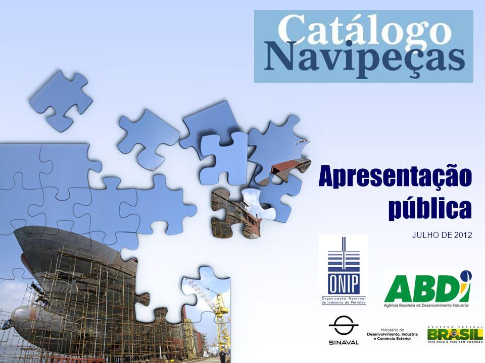 Apresentação pública JULHO DE 2012