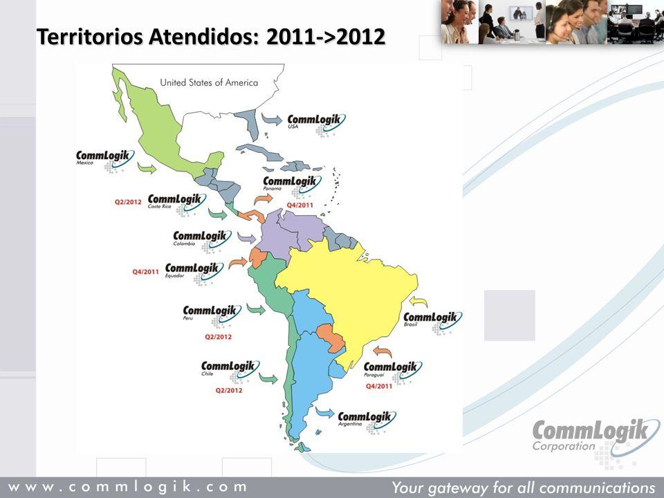 Territorios Atendidos: 2011->2012