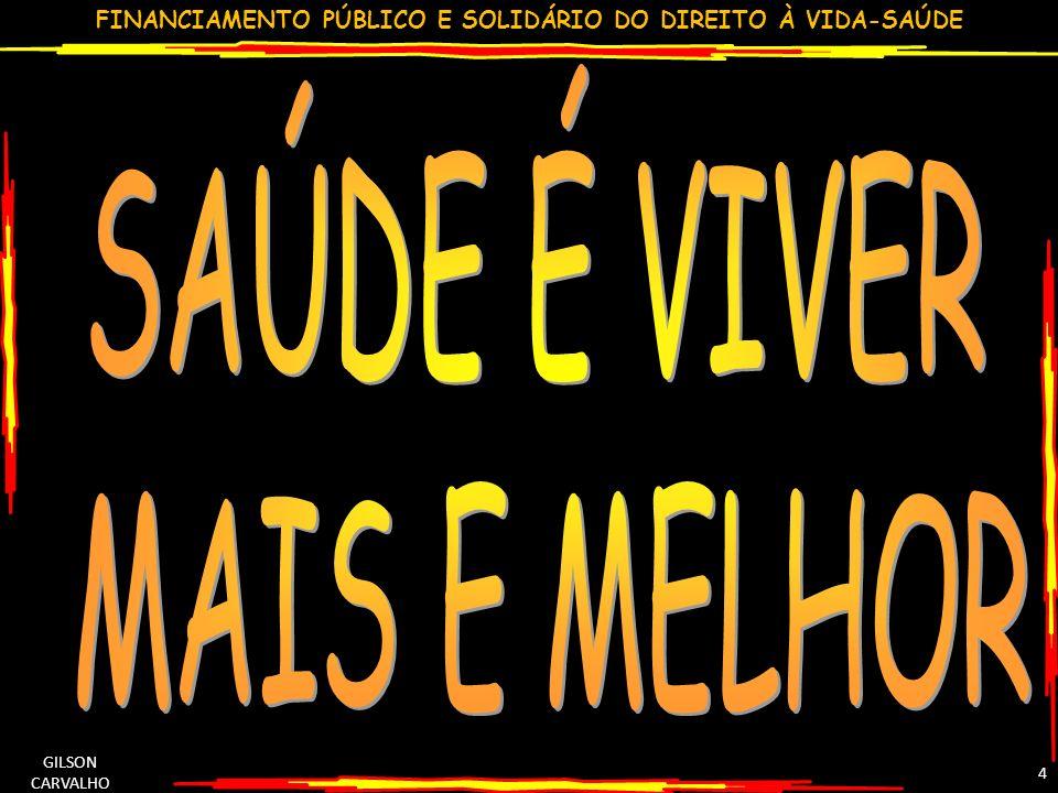 FINANCIAMENTO PÚBLICO E SOLIDÁRIO DO DIREITO À VIDA-SAÚDE GILSON CARVALHO 4