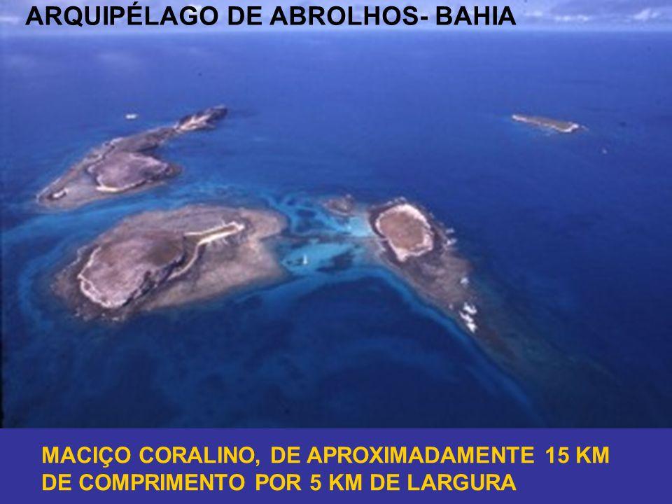 ARQUIPÉLAGO DE ABROLHOS- BAHIA MACIÇO CORALINO, DE APROXIMADAMENTE 15 KM DE COMPRIMENTO POR 5 KM DE LARGURA
