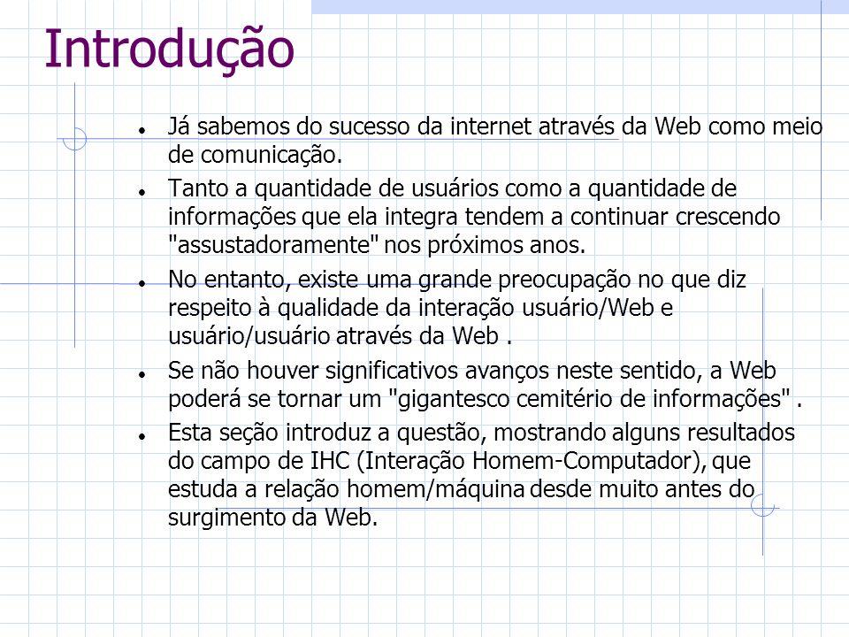 Já sabemos do sucesso da internet através da Web como meio de comunicação. Tanto a quantidade de usuários como a quantidade de informações que ela int