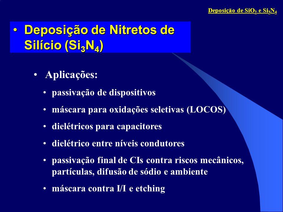 passivação de dispositivos máscara para oxidações seletivas (LOCOS) dielétricos para capacitores dielétrico entre níveis condutores passivação final d