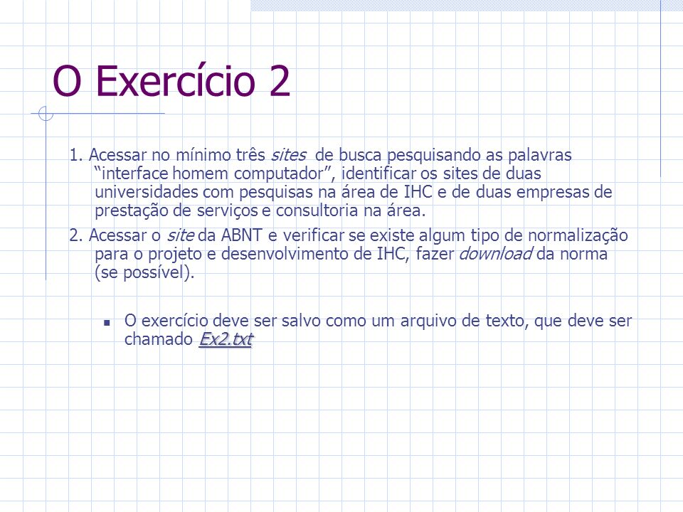 O Exercício 2 1.