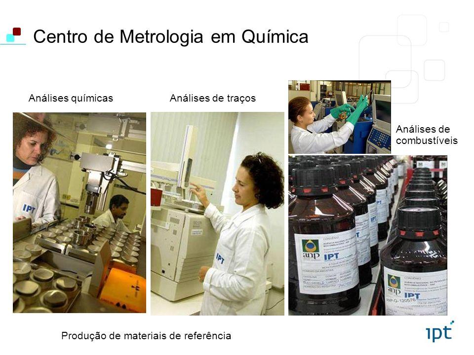 Centro de Metrologia em Química Análises de traçosAnálises químicas Análises de combustíveis Produção de materiais de referência