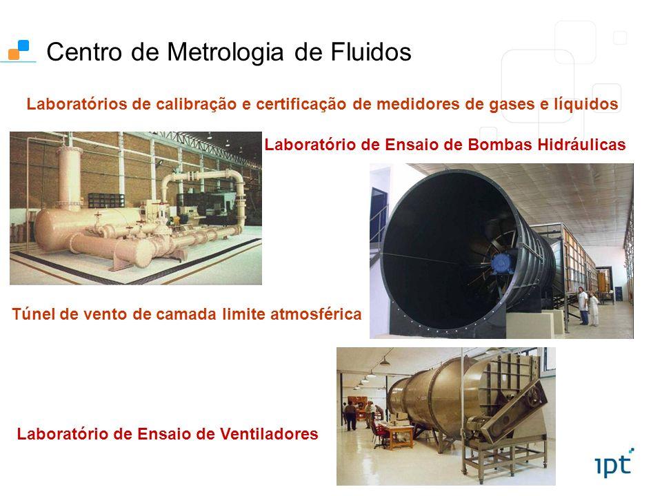 Laboratório de Ensaio de Bombas Hidráulicas Centro de Metrologia de Fluidos Túnel de vento de camada limite atmosférica Laboratório de Ensaio de Venti