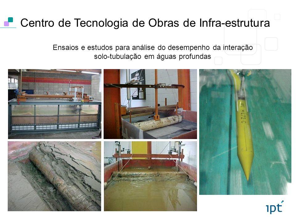 Ensaios e estudos para análise do desempenho da interação solo-tubulação em águas profundas Centro de Tecnologia de Obras de Infra-estrutura