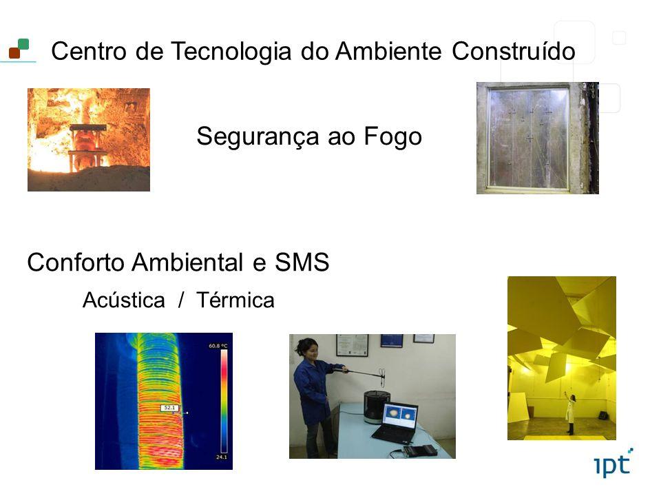 Centro de Tecnologia do Ambiente Construído Segurança ao Fogo Conforto Ambiental e SMS Acústica / Térmica