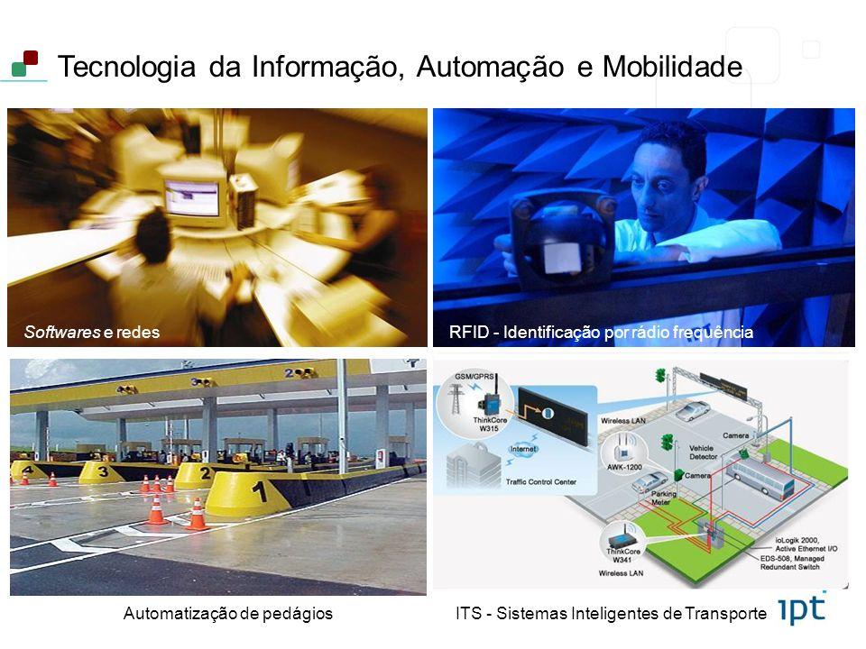 Tecnologia da Informação, Automação e Mobilidade Automatização de pedágiosITS - Sistemas Inteligentes de Transporte Softwares e redesRFID - Identifica