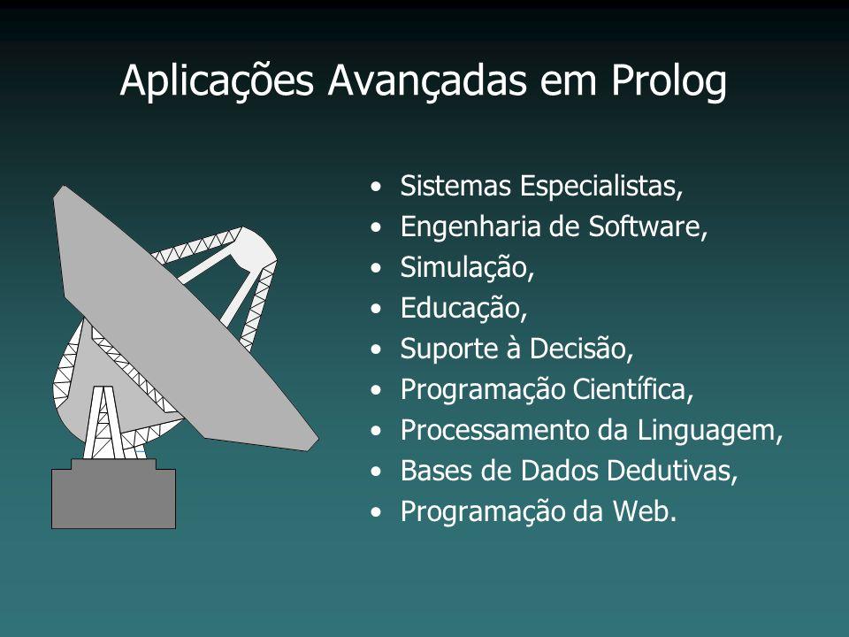 Aplicações Avançadas em Prolog Sistemas Especialistas, Engenharia de Software, Simulação, Educação, Suporte à Decisão, Programação Científica, Process