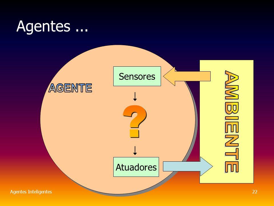 Agentes Inteligentes22 Agentes... Sensores Atuadores