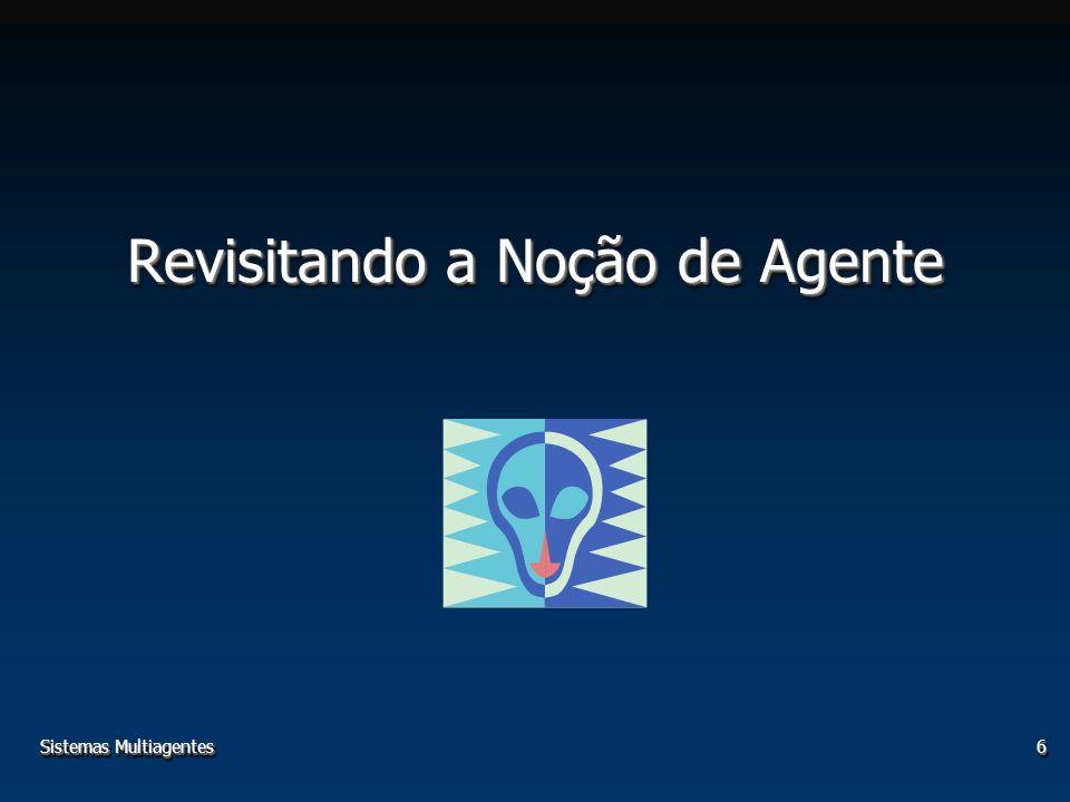 Sistemas Multiagentes6 Revisitando a Noção de Agente