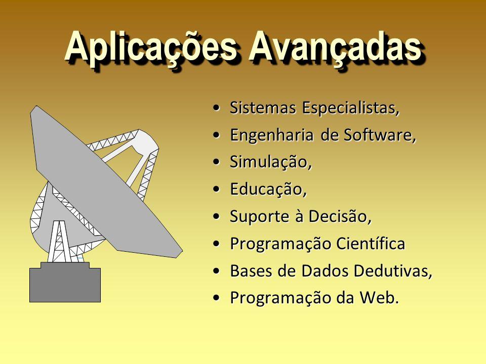 Aplicações Avançadas Sistemas Especialistas, Sistemas Especialistas, Engenharia de Software, Engenharia de Software, Simulação, Simulação, Educação, E