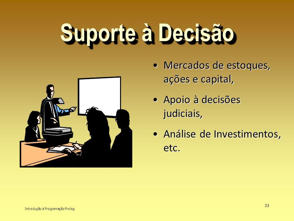 Introdução à Programação Prolog 23 Suporte à Decisão Mercados de estoques, ações e capital,Mercados de estoques, ações e capital, Apoio à decisões jud