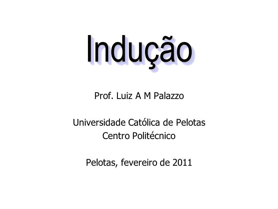 InduçãoIndução Prof. Luiz A M Palazzo Universidade Católica de Pelotas Centro Politécnico Pelotas, fevereiro de 2011