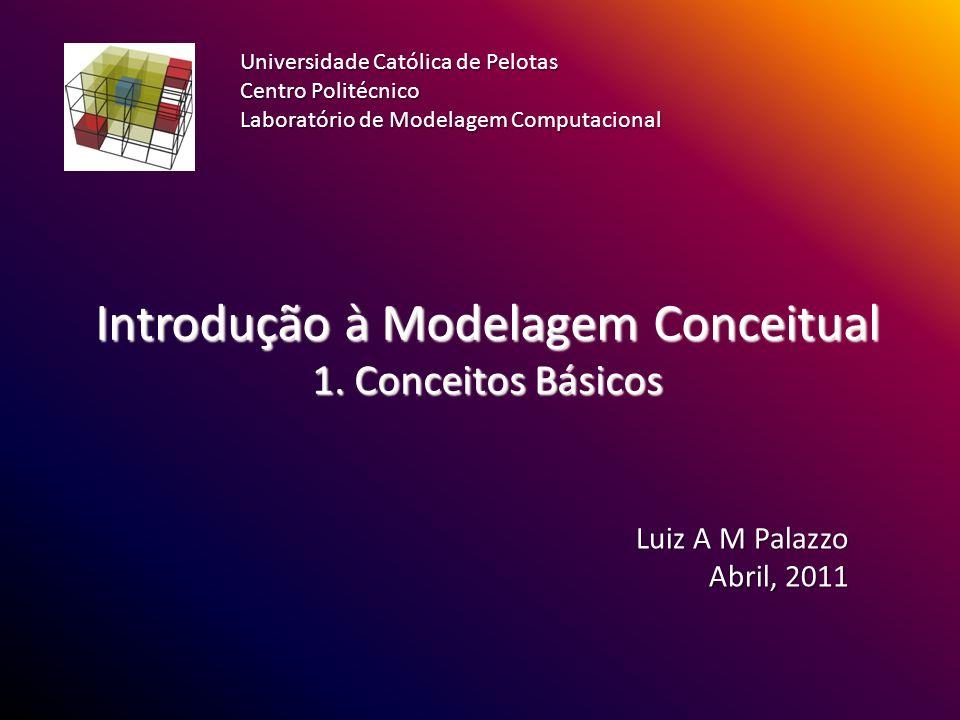Introdução à Modelagem Conceitual 1. Conceitos Básicos Luiz A M Palazzo Abril, 2011 Universidade Católica de Pelotas Centro Politécnico Laboratório de