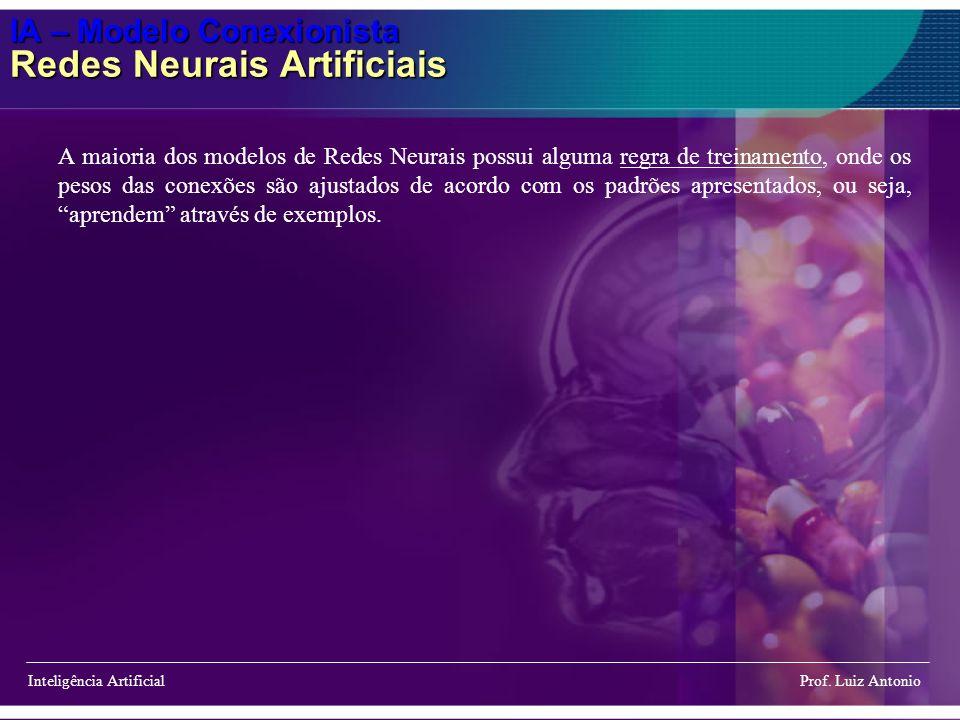 IA – Modelo Conexionista Redes Neurais Artificiais Inteligência Artificial Prof. Luiz Antonio A maioria dos modelos de Redes Neurais possui alguma reg