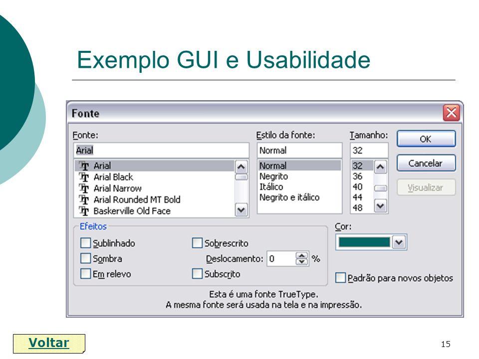 15 Exemplo GUI e Usabilidade Voltar