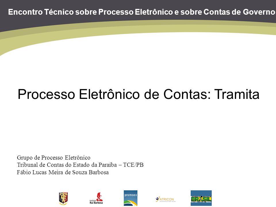 Encontro Técnico sobre Processo Eletrônico e sobre Contas de Governo Processo Eletrônico de Contas: Tramita Grupo de Processo Eletrônico Tribunal de C