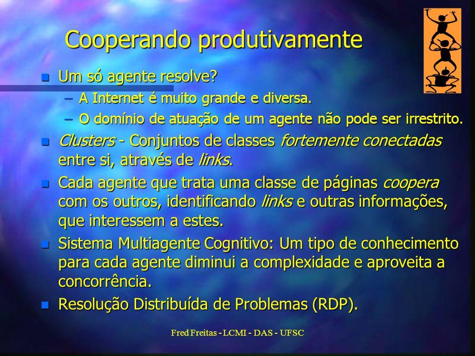 Fred Freitas - LCMI - DAS - UFSC Cooperando produtivamente n Um só agente resolve.