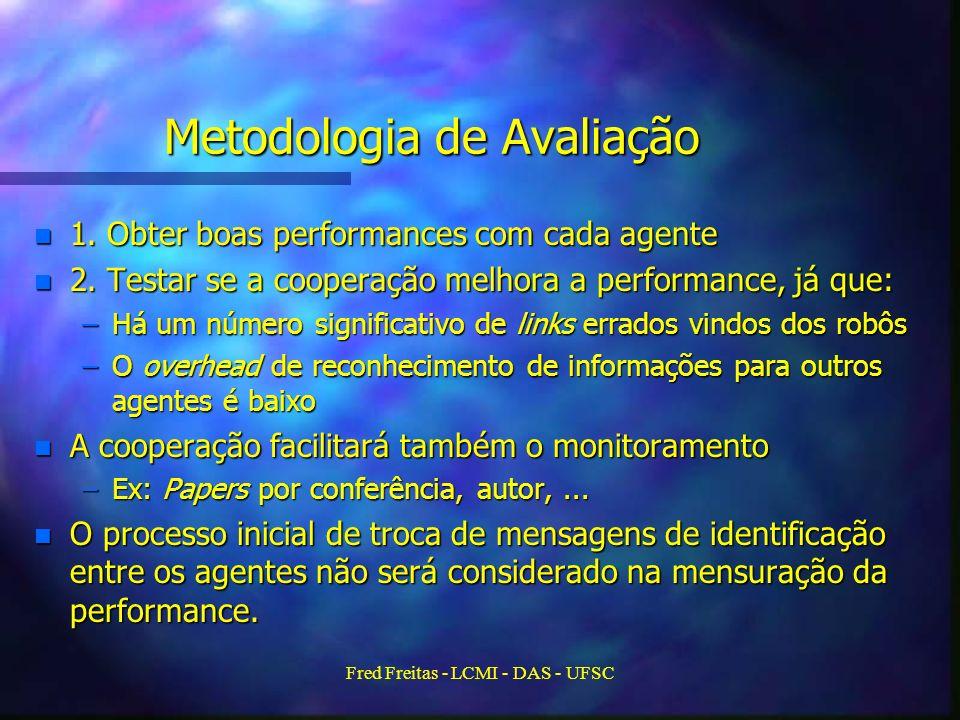 Fred Freitas - LCMI - DAS - UFSC Metodologia de Avaliação n 1.