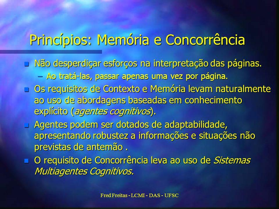 Fred Freitas - LCMI - DAS - UFSC Princípios: Memória e Concorrência n Não desperdiçar esforços na interpretação das páginas.