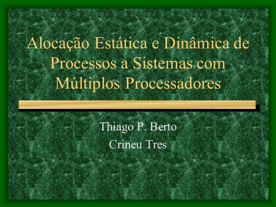 Alocação Estática e Dinâmica de Processos a Sistemas com Múltiplos Processadores Thiago P.