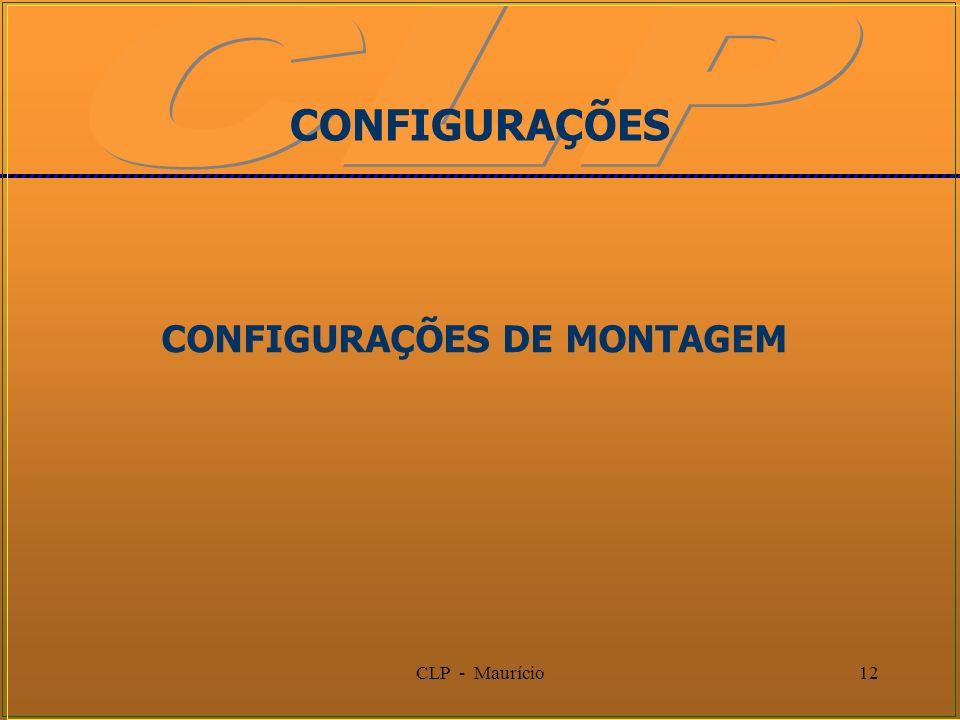 CLP - Maurício12 CONFIGURAÇÕES CONFIGURAÇÕES DE MONTAGEM