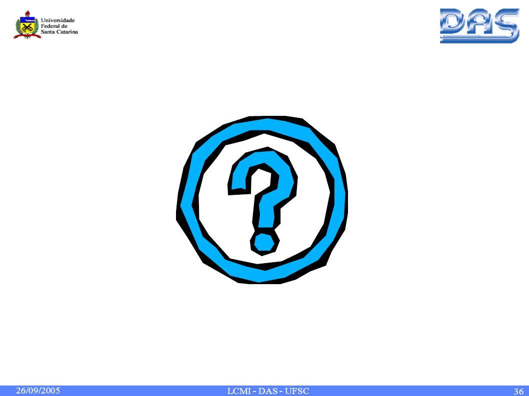 26/09/2005 LCMI - DAS - UFSC 36