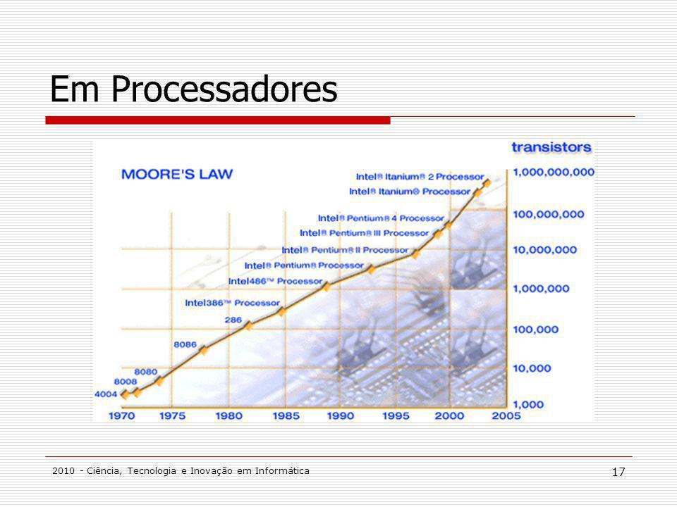 2010 - Ciência, Tecnologia e Inovação em Informática 17 Em Processadores