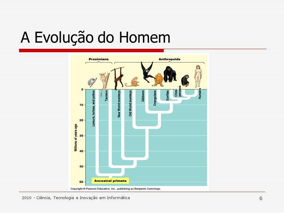 2010 - Ciência, Tecnologia e Inovação em Informática 6 A Evolução do Homem