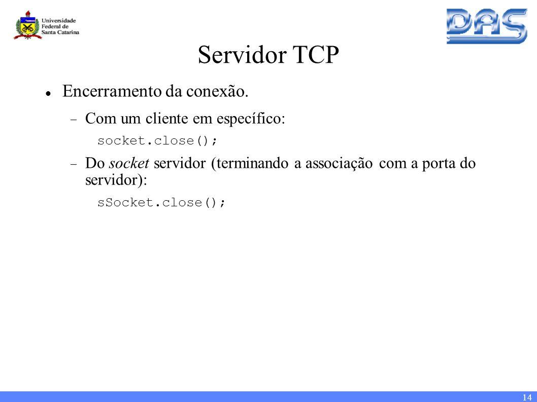 14 Servidor TCP Encerramento da conexão.