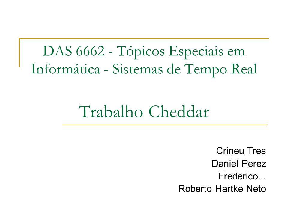 DAS 6662 - Tópicos Especiais em Informática - Sistemas de Tempo Real Trabalho Cheddar Crineu Tres Daniel Perez Frederico... Roberto Hartke Neto