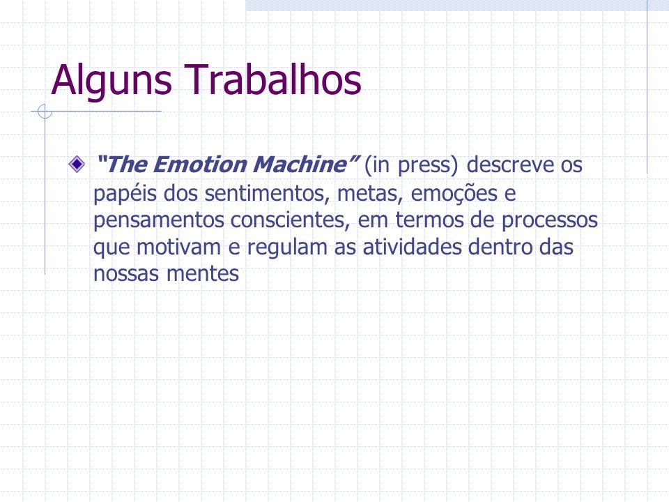 Alguns Trabalhos The Emotion Machine (in press) descreve os papéis dos sentimentos, metas, emoções e pensamentos conscientes, em termos de processos que motivam e regulam as atividades dentro das nossas mentes
